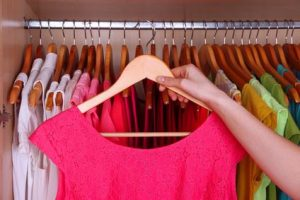 wardrobe management colourful clothes